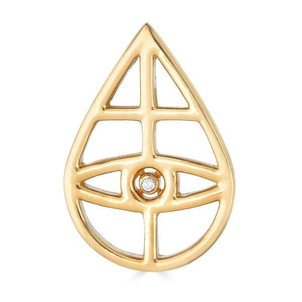 Oculus Dei Golden Pin - Front